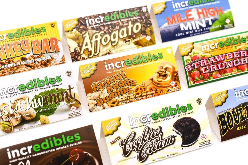 incredibles are gluten & GMO free chocolate bars come in over 16 flavors for cannabis-infused gourmet goodness! Available at  Rocky Road's medical and recreational stores in multiple strengths (THC:CBD) to suit your needs.