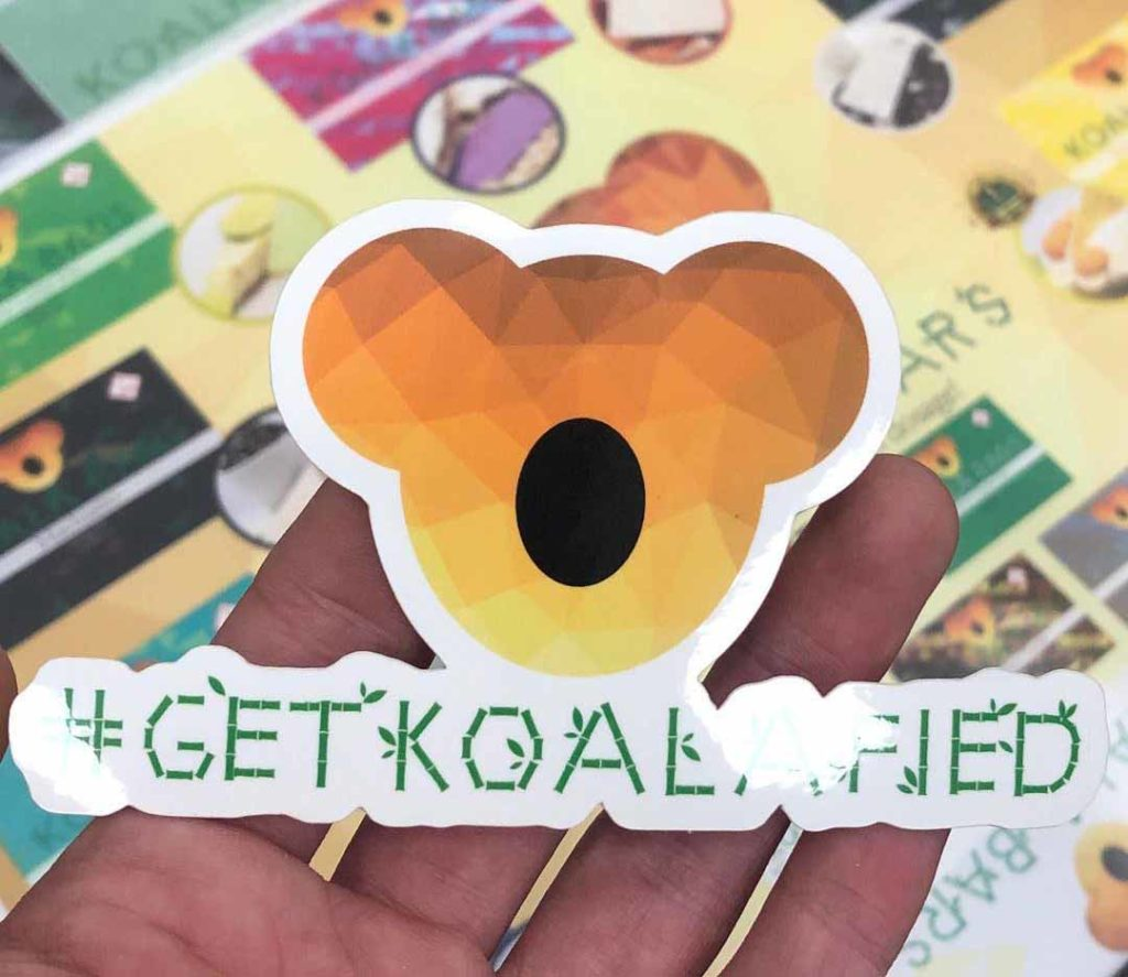 Koala Edibles logo and slogan 'get koalafied'