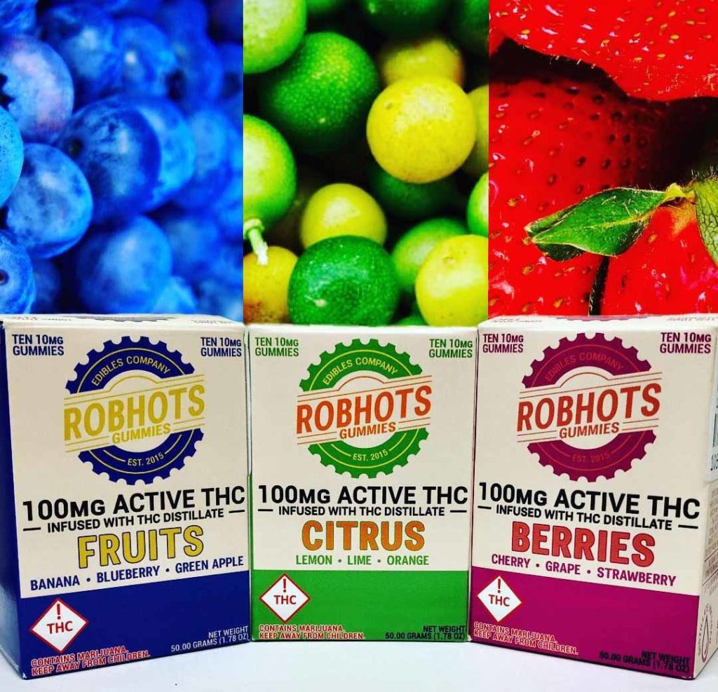 Robots Gummies Distillate infused gummies, made in small batches for a focus on consistency & quality, available for both recreational and medical markets.