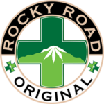 Rocky Road Original circular logo with a green cross in the center