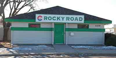 Rocky Road on Platte dispensary's exterior showing entrance
