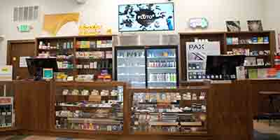 Rocky Road Vail's dispensary product displays